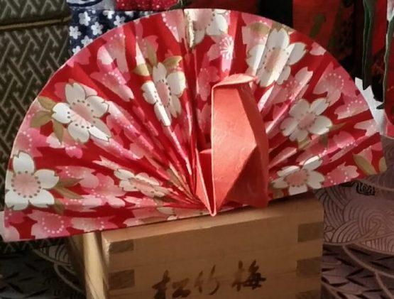 folded peacock design