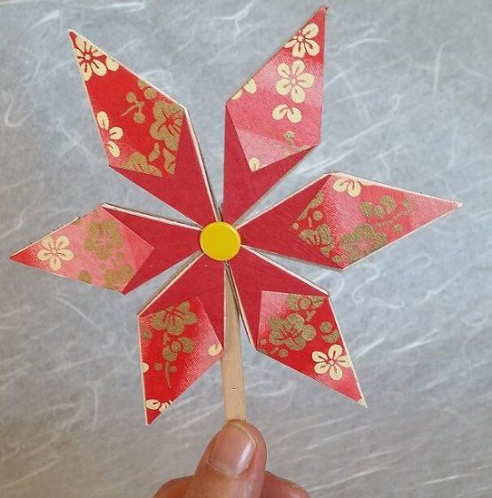 pinwheel origami pattern