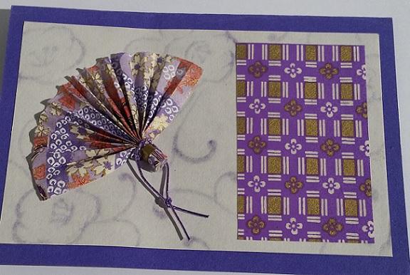 origami fan card