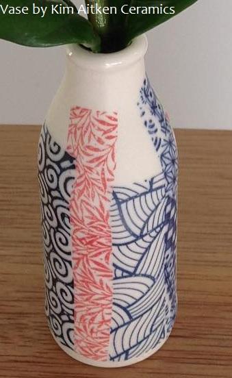 ceramic transfers vase tpb34