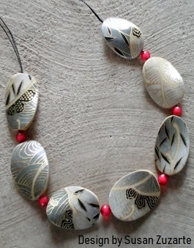yuzen paper necklace