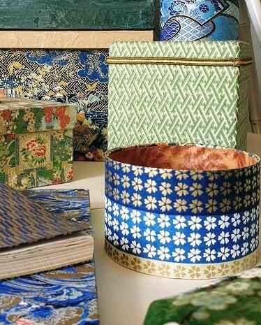 blue yuzen paper