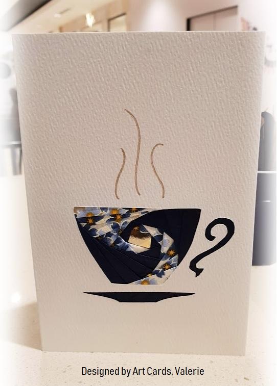 blue yuzen paper card