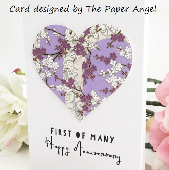 yuzen paper heart card