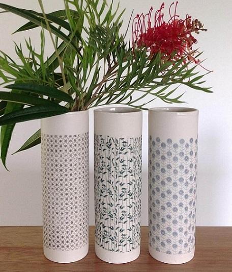 ceramic transfers vase tpb32