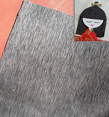 black hair paper for geisha