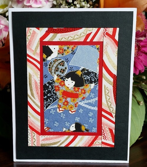 japanese geisha card