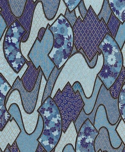 Yuzen blue paper B44