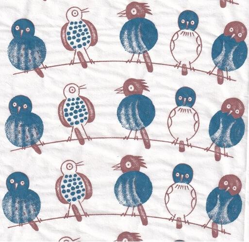 5 Birds ceramic transfer
