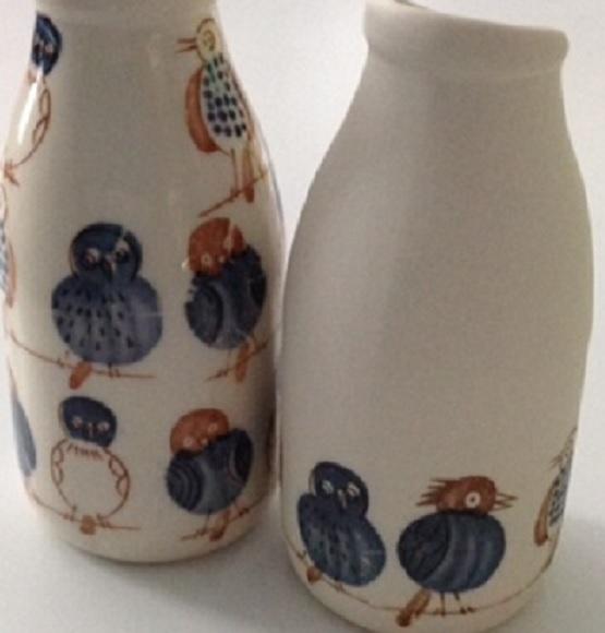 5 birds ceramic transfer paper