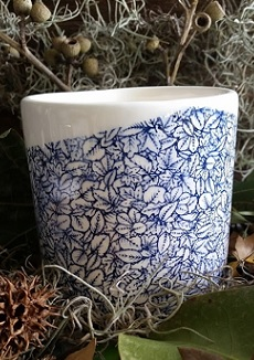 ceramic transfers blue
