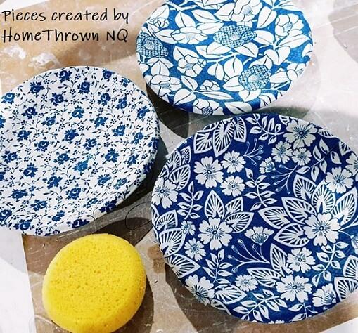 tpb46 bouquet blue ceramic transfer