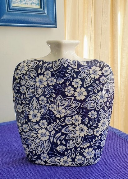 ceramic decal bouquet blue
