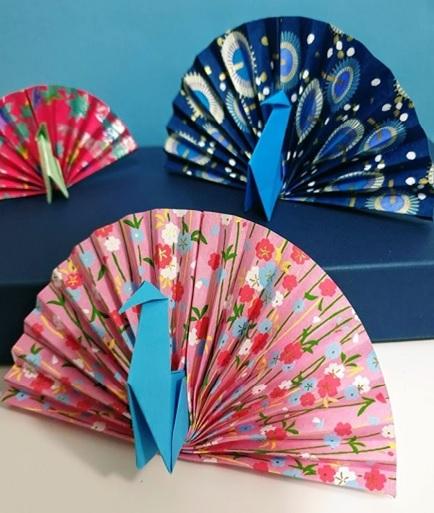origami peacock kit
