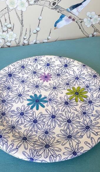 wildflowers ceramic transfer