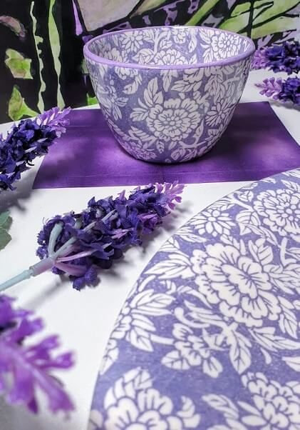 violet chrysanthemum transfer paper
