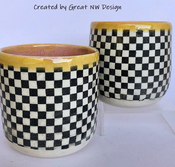tbb49 chess board black ceramic transfer