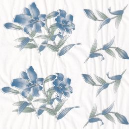 blue lilies ceramic transfer paper