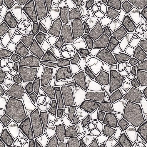 cobblestones ceramic transfer paper