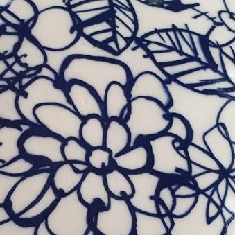 Doodle Flowers Ceramic Transfer